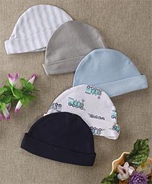 Luvable Friends Set Of 5 Stylish Caps - Multicolour