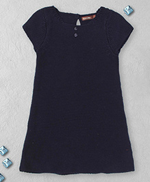 Boutchou Half Sleeves Dress -  Navy Blue