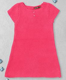 Boutchou Half Sleeves Dress -  Pink