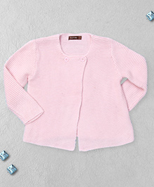 Boutchou Full Sleeves Baby Sweater - Light Pink