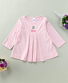 Yiyi Garden Dot Print Top - Pink