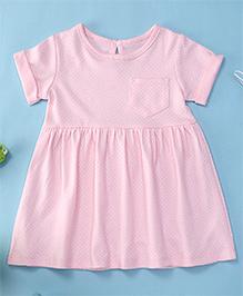 Yiyi Garden Dot Print Baby Dress - Pink