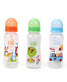 Mee Mee Feeding Bottle Pack Of 3 Blue Green Orange - 250 Ml
