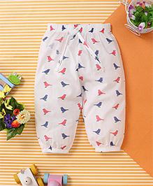 Yiyi Garden Sparrow Print Legging - White