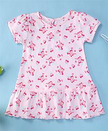 YiYi Garden Floral Print Dress - Pink