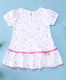 YiYi Garden Floral Print Dress - White
