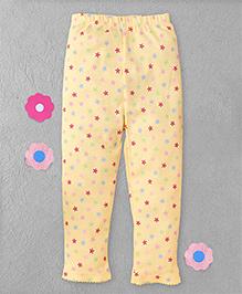 Yiyi Garden Floral Print Legging - Yellow