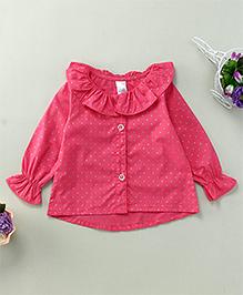 Yiyi Garden Star Print Shirt - Pink