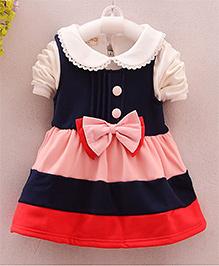Pre Order - Petite Kids Half Sleeves Frock - Multi Color