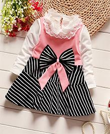 Pre Order - Petite Kids High Neck Dress - Pink