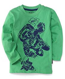 Fido Full Sleeves T-Shirt Hi Print - Green
