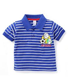 Pink Rabbit Half Sleeves T-Shirt Sport Print - Royal Blue