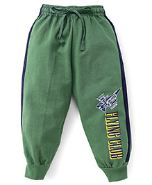 Fido Full Length Track Pant Flying Club Print - Green