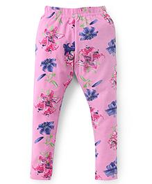 Fido Full Length Floral Print Leggings - Pink