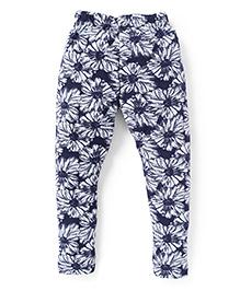 Fido Full Length Legging Floral Print - Navy