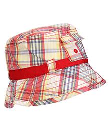 Boutchou Checkered Print Cap - Multicolour
