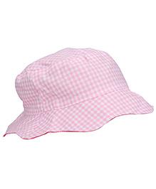 Boutchou Checkered Cap - Light Pink