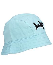 Boutchou Fish Print Cap - Aqua Blue