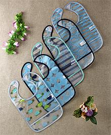 Luvable Friends Printed Set Of 5 Bibs - Multicolour