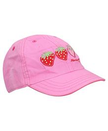 Boutchou Strawberry Print Cap - Pink