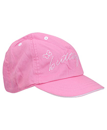 Boutchou Butterfly Print Cap - Pink