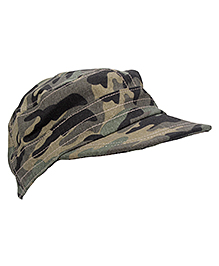 Bout'chou Camouflage Print Cap - Green