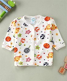 Debao Star Printed Baby Top - White