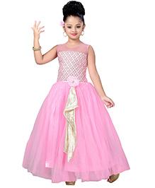 Aarika Pearl & Flower Gown - Pink