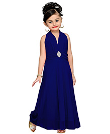 Aarika Layered Party Gown - Dark Blue