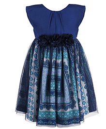 Toy Balloon Party Dress Scarf Print - Blue