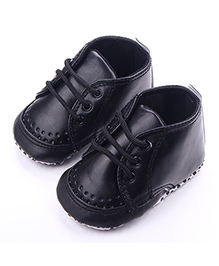 Alle Alle Soft Leather Booties - Black
