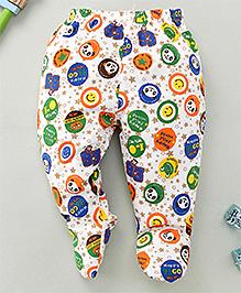 Debao Panda Print Footed Leggings - White