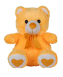 Ultra Spongy Teddy Bear Soft Toy Yellow - 38 Cm
