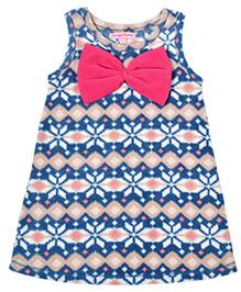 CrayonFlakes Super Soft & Warm Straight Polar Fleece Dress - Blue