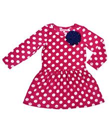 CrayonFlakes Super Soft & Warm Polar Fleece Dress - Magenta
