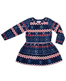 CrayonFlakes Super Soft & Warm Polar Fleece Dress - Blue