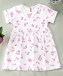 Yiyi Garden Flower Print Baby Dress - White