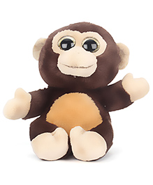 Keel Sparkle Monkey Soft Toy Coffee Brown - 20 Cm