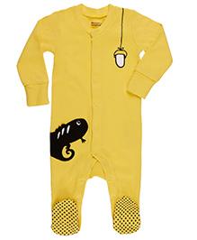 Pranava Attractive Sleepsuit For Kids - Yellow