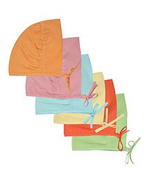 MomToBe Set Of 6 Trendy Baby Caps - Multicolor