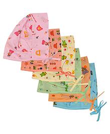 MomToBe Set Of 6 Printed Baby Caps - Multicolor