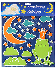 Frog And Star Luminous Room Decor Sticker