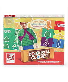 Toy Kraft Colourful Closet Puzzle