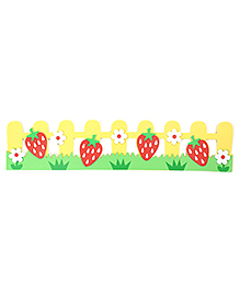 Strawberry And Flowers Wall Stickers - Multicolor
