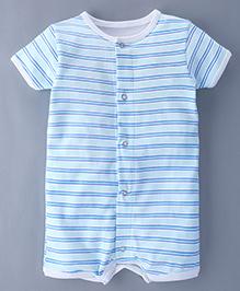 Bachha Essential Short Sleeves Romper Stripes Print - Blue