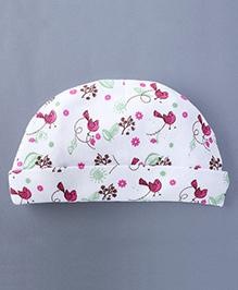Bachha Essential Baby Cap Birds Print - Pink