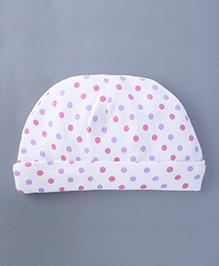 Bachha Essential Baby Cap Polka Dot Print - Pink