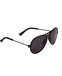 Spiky Classic Aviator Kids Sun Glasses - Black