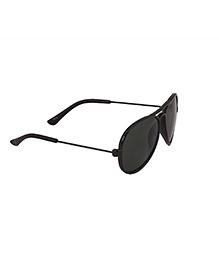 Spiky Classic Aviator Kids Sun Glasses - Black & Green