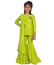 Pre Order : Chiquitita Sequence Embroidered Ethnic Set - Green